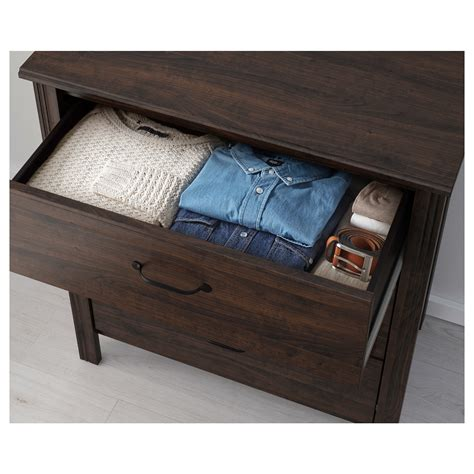 brusali chest of 3 drawers brown 80x93 cm ikea
