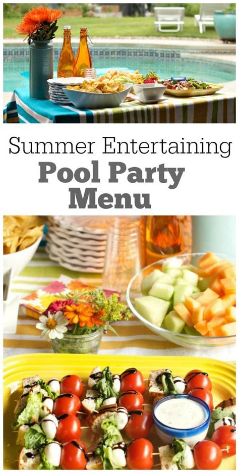 backyard party menu ideas 1000 ideas about kids party menu on pinterest party