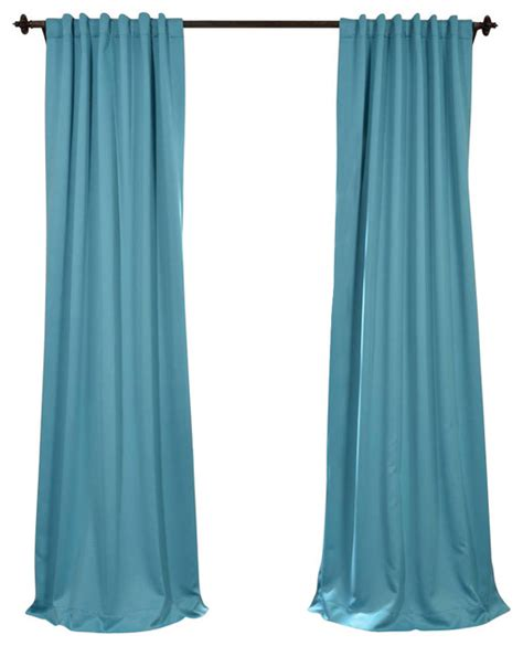 Turquoise Blackout Curtains Turquoise Blue Blackout Curtain Traditional Curtains By Half Price Drapes