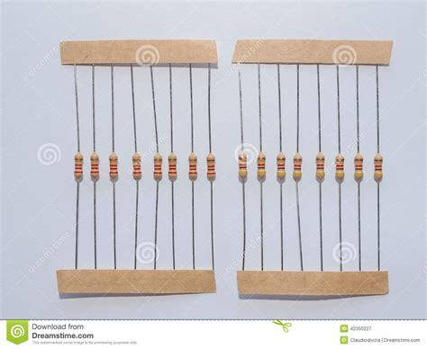 will resistor reduce voltage passive resistor stock photo image 42350227