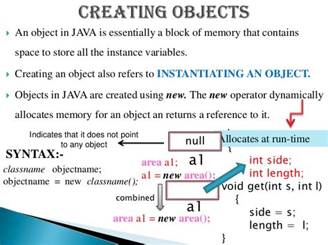 java pattern object creation classes objects in java