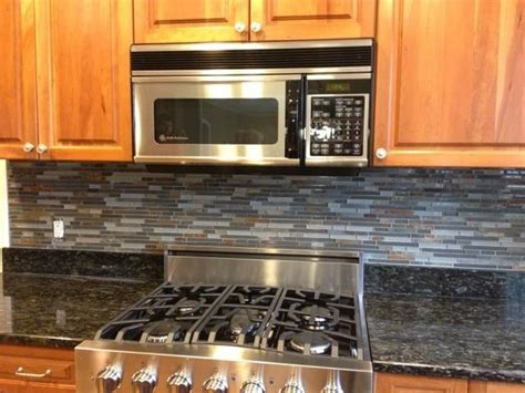 slate backsplashes for kitchens kitchen backsplashglass tile and slate mix kitchen