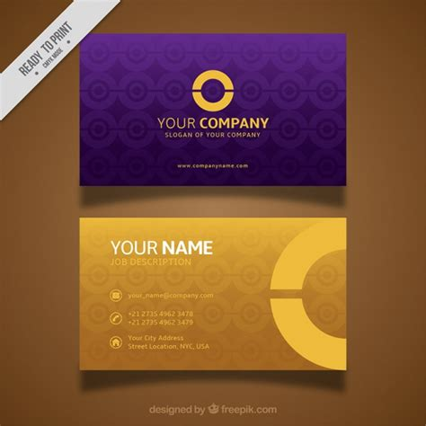 Purple And Gold Business Cards