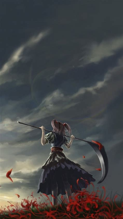 girl themes iphone girl with scythe iphone 5 wallpaper iphone wallpapers