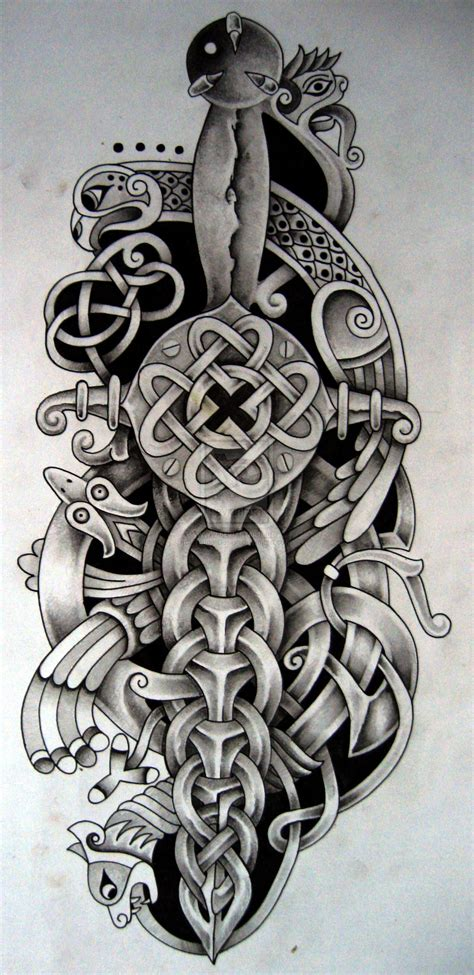 celtic tattoo design celtic dagger and bird by design deviantart on