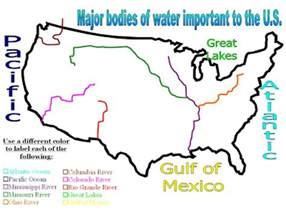 mr iademarco 6th grade u s bodies of water map