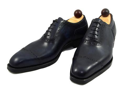 italian oxford shoes vass shoes italian oxford v cap blue museum calf