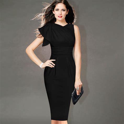 corporate dress up free shipping 2016 new women s elegant flounced sleeve