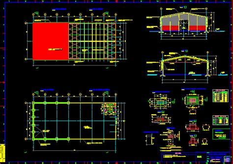 exhibition hall dwg section  autocad designs cad