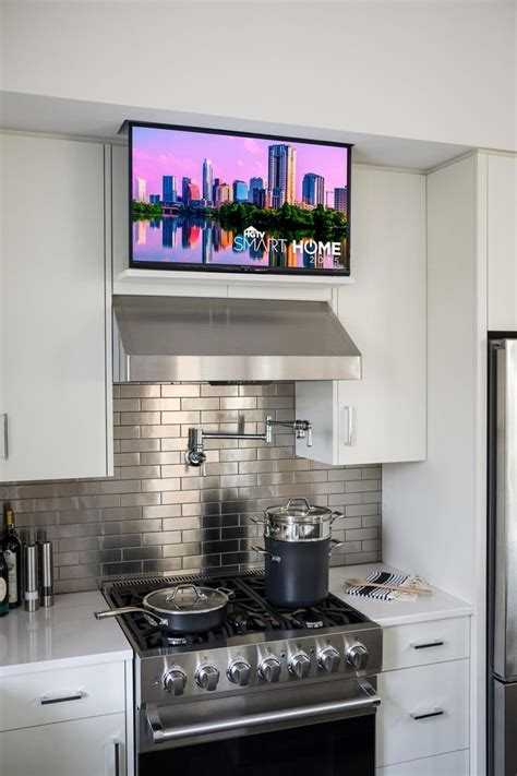 Kitchen Television Ideas Top 25 Best Tv In Kitchen Ideas On Pinterest A Tv Built In Integrated Appliances And Kitchen Tv