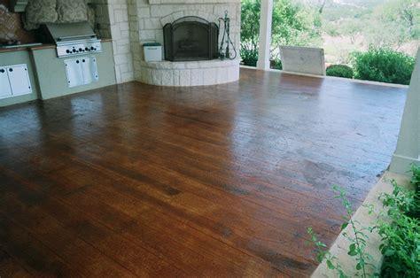 Hardwood Floor On Concrete Concrete That Looks Like Wood