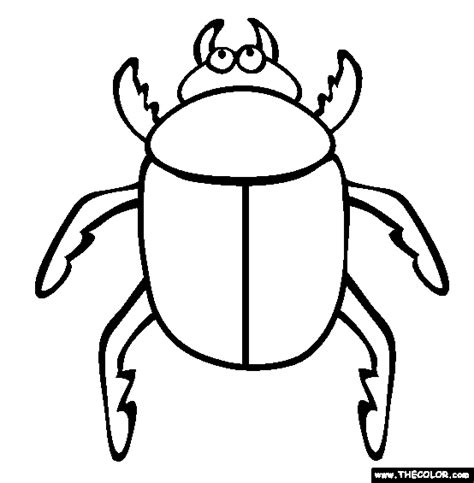 color bug insect coloring pages page 1