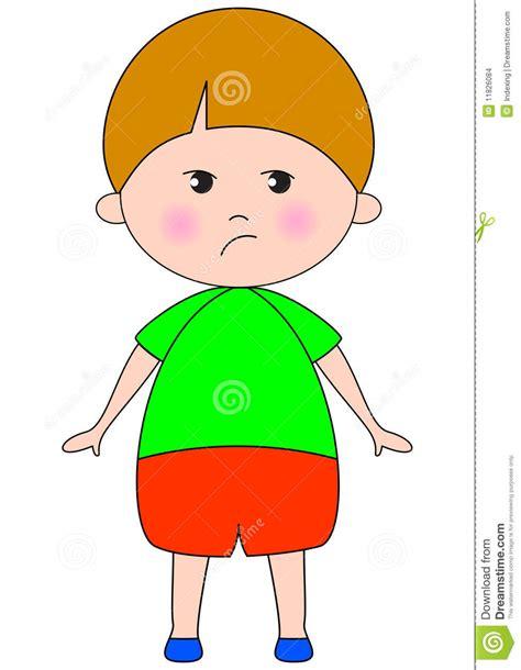 clipart bambino bambino triste illustrazione vettoriale illustrazione di