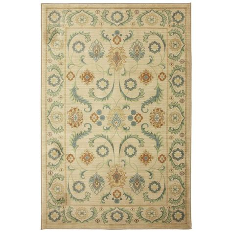 home depot mohawk area rugs mohawk home dennell butter pecan 5 ft x 8 ft area rug 388751 the home depot
