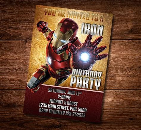 Iron Card Template by Iron Birthday Card Customized Birthday Theme By