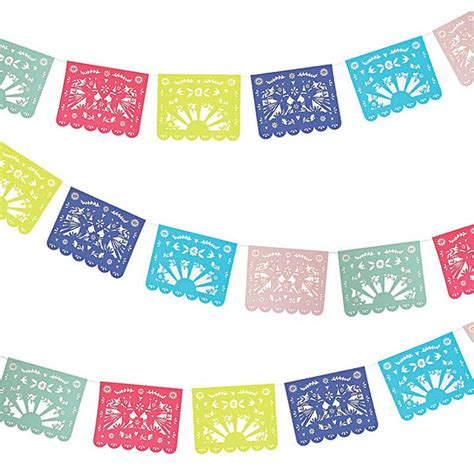 How To Make Mexican Paper Banners - garland meri meri banner mexican folk