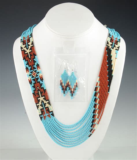 beaded ls beaded navajo necklace rena charles