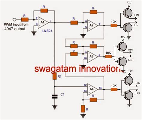 3 phase inverter circuit diagram make this 3 phase inverter circuit