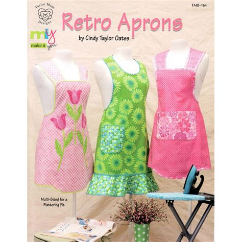 pattern retro apron retro aprons pattern book taylor made designs apron