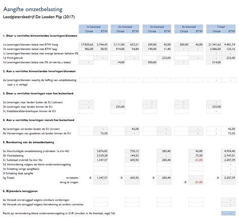 budget template btw boekhouden in excel