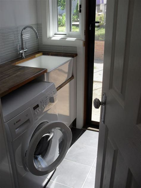 Beautiful Country Laundry With Timber Bench Top And Butler Timber Laundry
