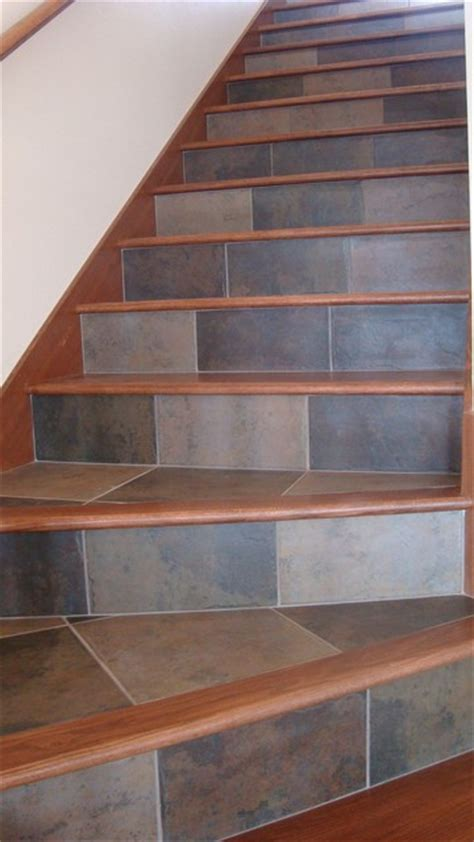 Tiles For Stairs Design Tile And Wood For Your Stairs Contemporary Staircase Other By Sue Wisor At Quality