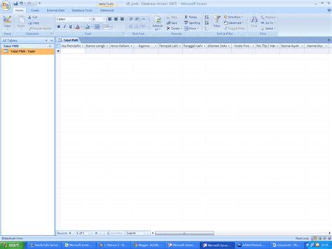 membuat form data siswa dengan accesss 2007 istiyanto com membuat database dan formulir dengan microsoft access 2007