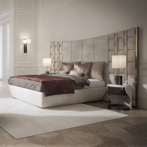 contemporary bed headboards contemporary italian bed with large luxury leather