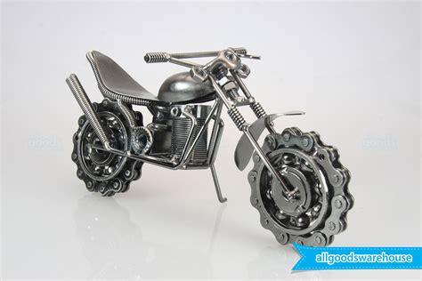 Handmade Sculpture - scrap metal handmade nuts bolts dirtbike gift