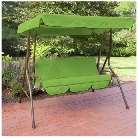 lime water proof 2 seater garden hammock swing seat canopy