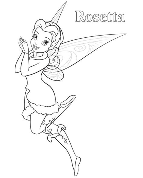 rosetta tinkerbell coloring page claire s second