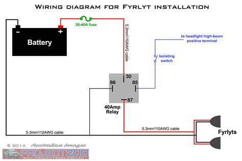 fog light wiring diagram  relay wiring diagram