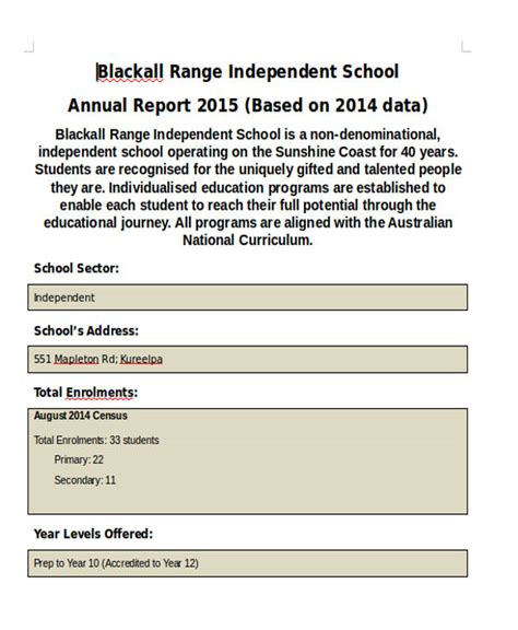 annual school report template 40 sle reports in doc sle templates