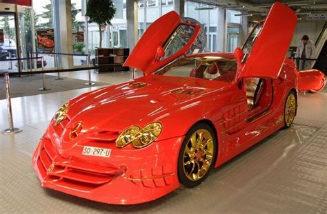 mercedes mclaren red mercedes benz slr mclaren 999 red gold dream ueli anliker