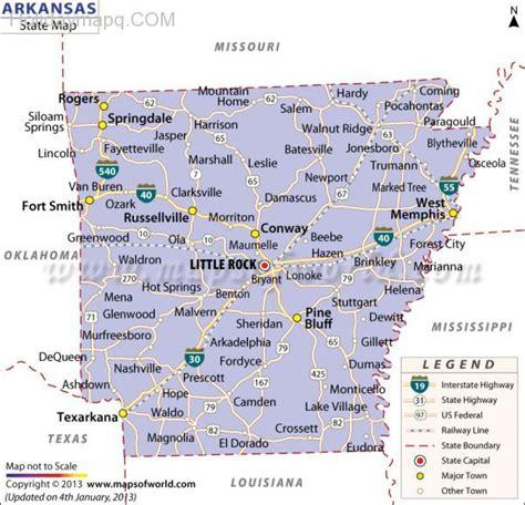 arkansas map with cities map of arkansas holidaymapq