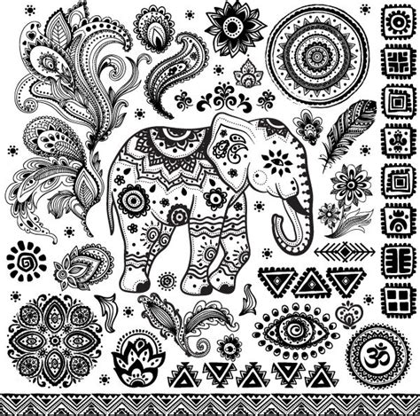 boho pattern drawing thai elephant tattoo idea tattoos piercings art