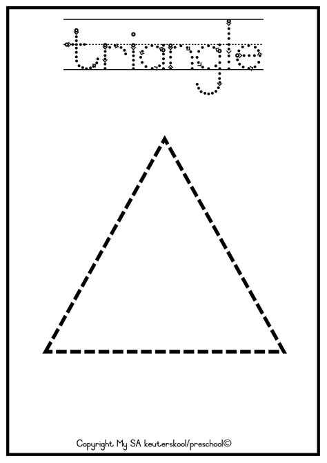 triangle printable worksheets for preschoolers triangle worksheets for preschool bing images