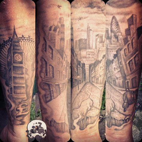 london skyline tattoo heal sleeve update skyline
