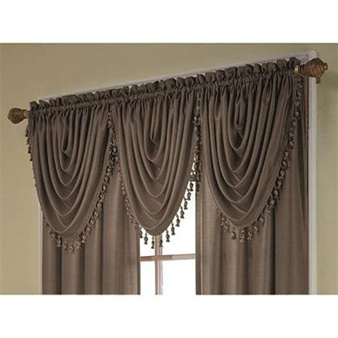 walmart curtain valances treasure faux silk window curtain valance 36x26 walmart com