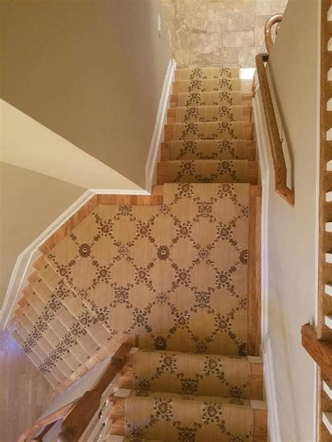 patterned carpet  staircase traditional  matching patterns  york home builders