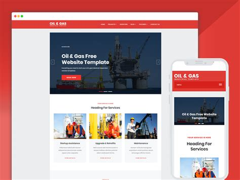 Best Bootstrap Responsive Web Design Templates 40 And Gas Company Website Template
