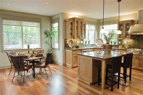 kitchen dining room ideas applying some interior design for open kitchen with dining