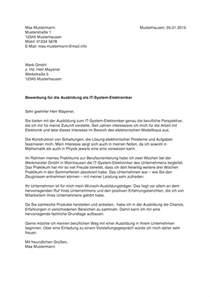 Bewerbung Praktikum Ingenieur Vorlage Bewerbung F 252 R Ausbildung Tipps Vorlagen