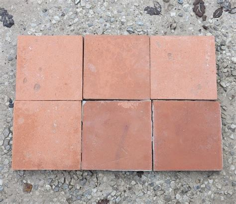 large salvaged terracotta quarry floor tiles