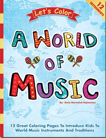 Musical Book Covers by Color These World Instruments Tiny Tapping Toes
