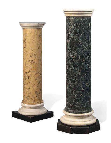 Italian Columns Two Italian Scagliola Pedestal Columns 20th Century