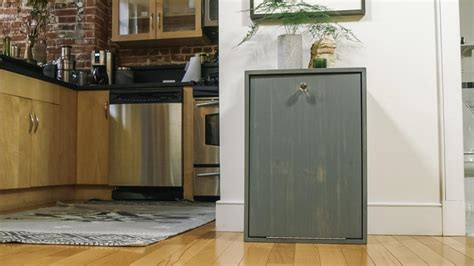hidden trash can cabinet how to make a hidden trash can cabinet danmade watch