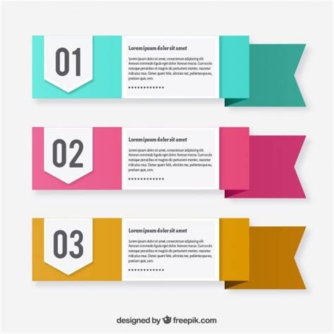 text template three text template ribbons vector free