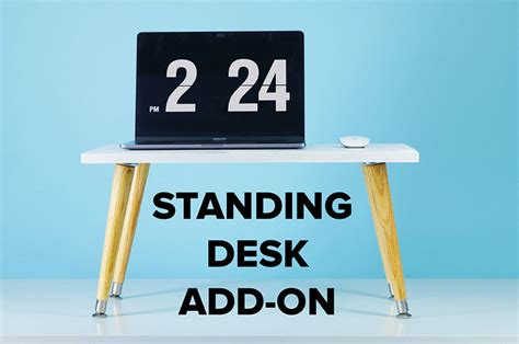 Improve Your Posture With This Diy Standing Desk Add On Standing Desk Addition