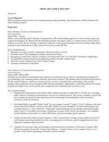 resume format career objective for resume sle